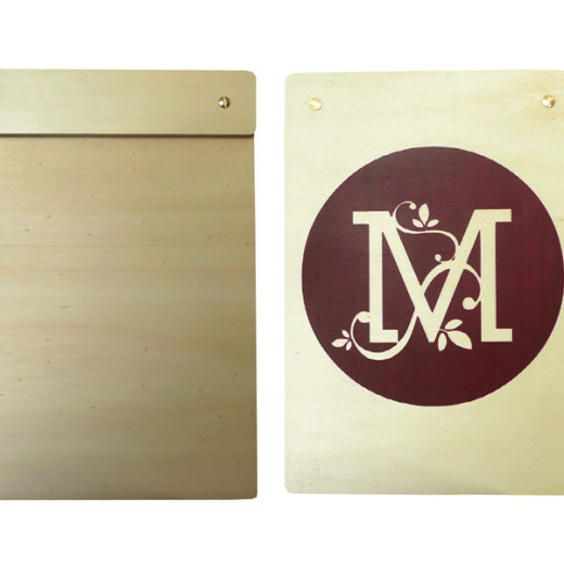 Timber menu board